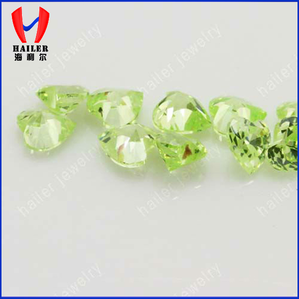 Apple green colours CZ stones in various shapes