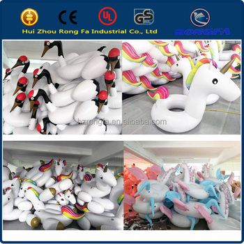 20 years factory wholesale inflatable unicorn ride on pool floats adults inflatable floats