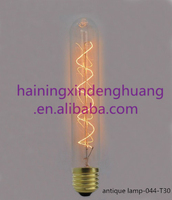 Alibaba best selling edison vintage bulb 25w 40w 60w e26 e27 b22 T30 carbon filament light bulb/lamps e27 220v T30 antique bulbs