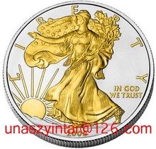 American Eagle One Ounce Silver Dollar Uncirculated Silver and Gold Coin