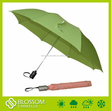 Standard Umbrella Size Solid Plain Color Auto Open 2 Fold Umbrella