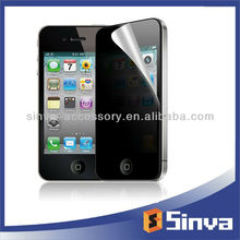 180 degree privacy filter matte anti-spy screen protector for iphone 4g