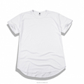 Basic Color T shirt with Scallop Bottom for men