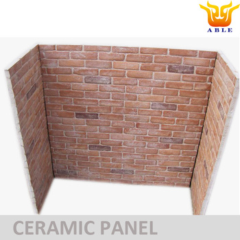 Gas Fireplace Ceramic Panel Brick Panel