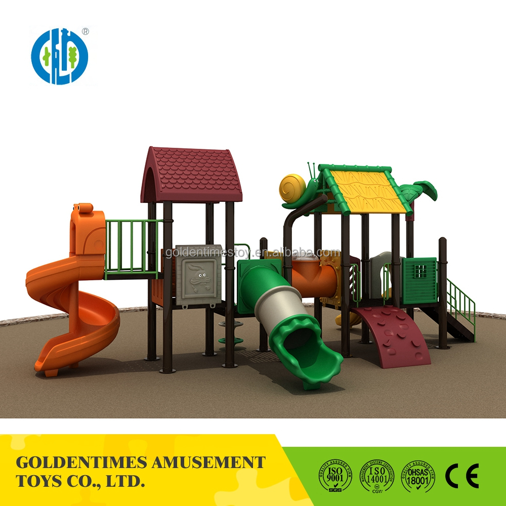 China factory selling plastic outdoor playground slide play equipment