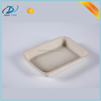 Wholesale New Design Eco-friendly 90days Biodegradable Compostable Tray Molded Pulp disposable tableware