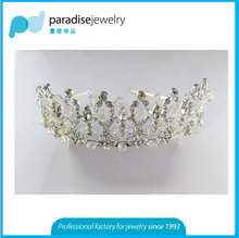 2016 newest girl king crown head band with shinny rhinestone