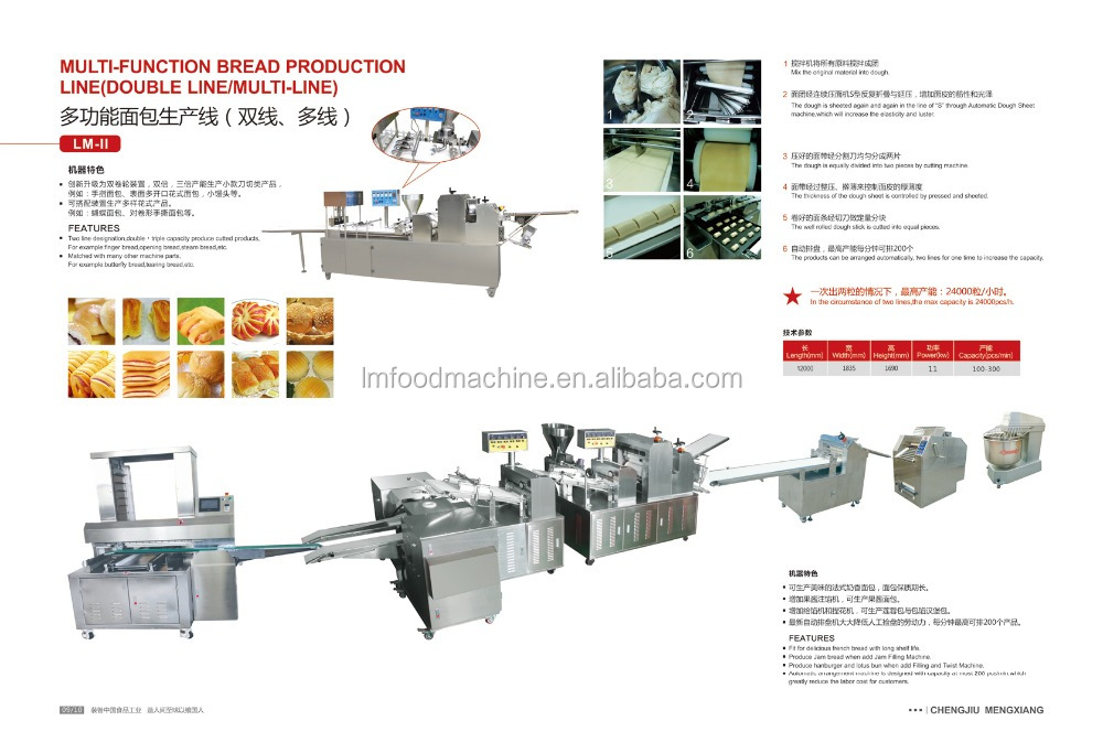 CE approved small commercial bread making machines for sale