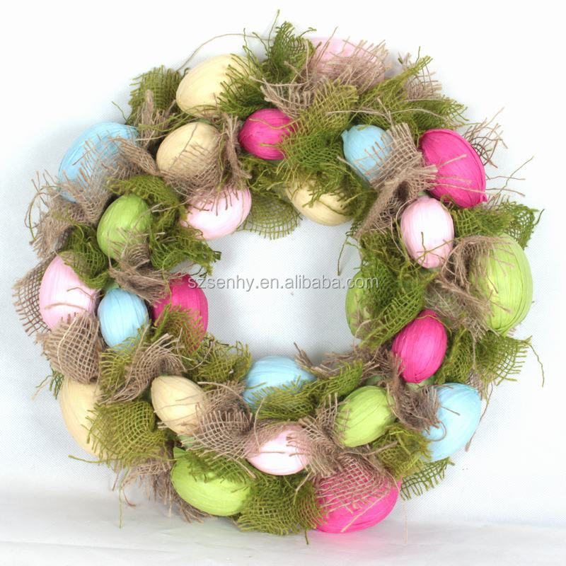 Easter Egg Wreath Decorations With Metal Frame Buy