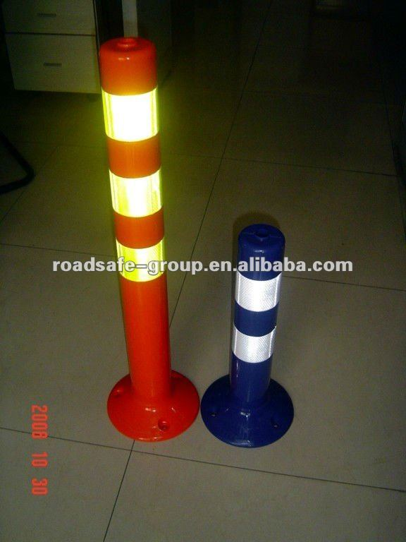 Manufacture 1100mm flexible delineator post / t-top bollard