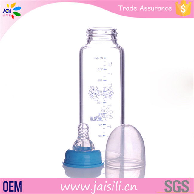 new baby products 2016 OEM feeding bottle glass baby bottle