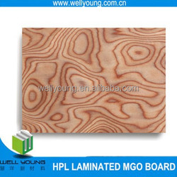 wood grain surface finished hpl natural