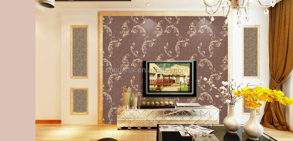 GOLOVE 2015 new designer for vinyl wallcovering decorative wallpaper pvc wallpaper chea price wallback room china