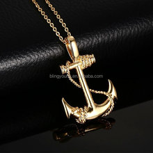 High quality antique stainless steel anchor pendant