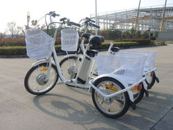 three tricycle pedal assisted,elctric pedal cargo tricycle