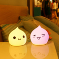 Mini Lovely Waterdrop Silicone LED Night Light Player for Kids
