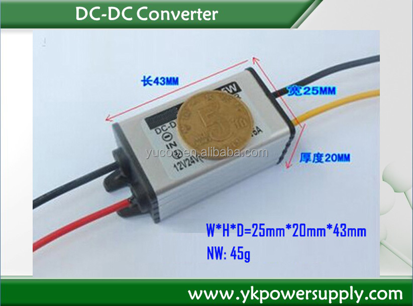 LED display converter 12v dc to 6v dc
