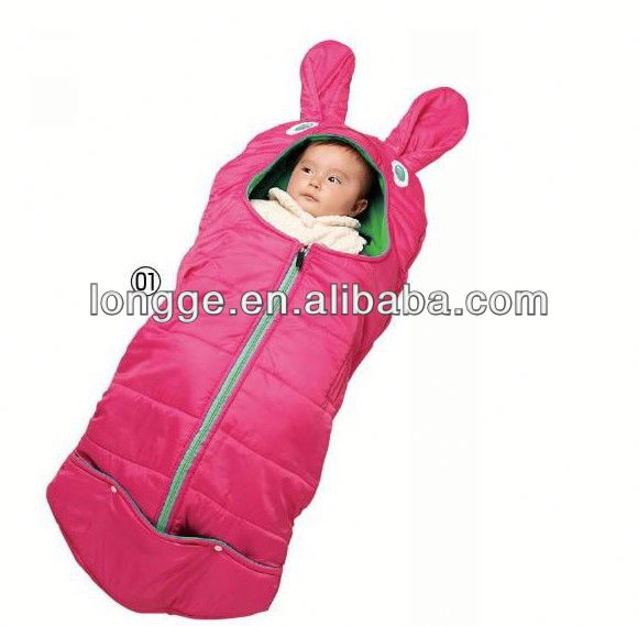 2014 Cute Lovely Cartoon Rabbit Baby outdoor sleeping bag