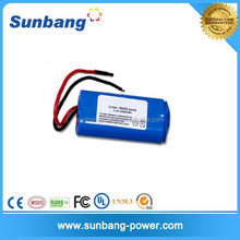 deep cycle rechargeable 18650 2200mah 7.4v lithium ion battery for battery light for fish tank
