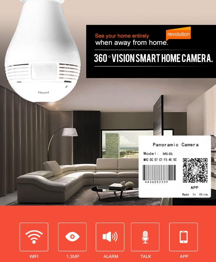 2016 new 960p wireless hidden camera invisable camera lamp