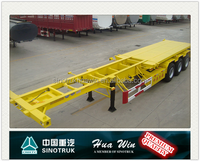 HUAWIN 40ft Skeleton Trailer For Container