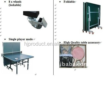 Table Tennis Table Standard Size Folding Table Tennis Table Adult Ping Pong  Table With Net/