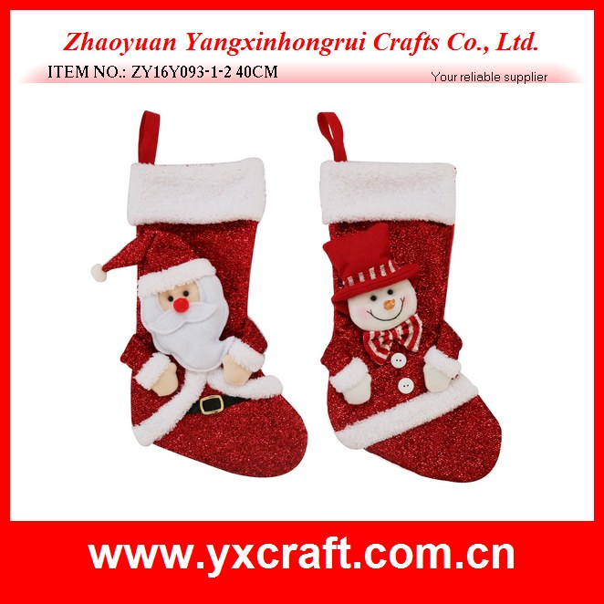 Christmas decoration (ZY16Y093-1-2 40CM) buy your own christmas gift sock christmas stocking item
