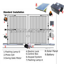 Solar Dual Arm Swing Gate Opener(CE),Automatic Dual Arm Swing Gate Opener,Electric Dual Arm Swing Gate Opener