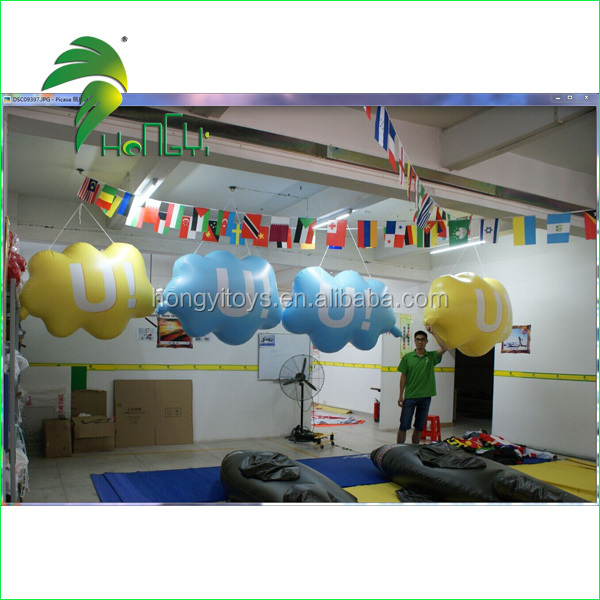 2017 Cloud Shape Balloon Self Inflating PVC Cloud / Advertising Custom Logo Inflatable Cloud Balloon