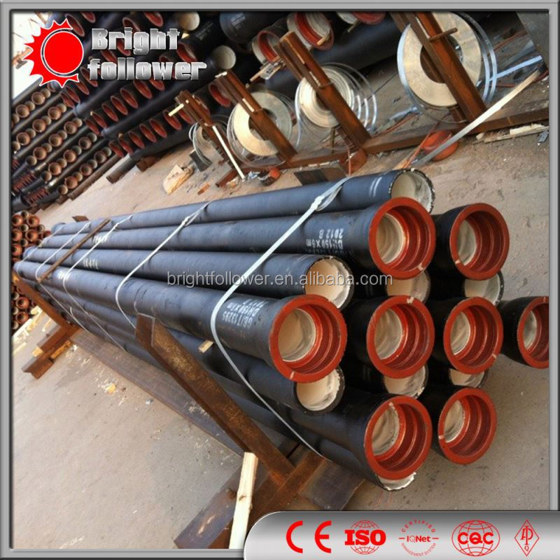 DN 400mm ISO 8179 ductile iron pipe