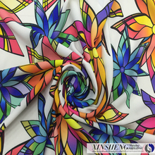 100% Polyster flora digital printing crushed fabric for clothing