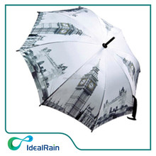 8k City rain umbrella picture print