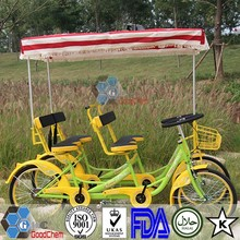 Luxurious 4 Wheel Quadricycle Surrey Sightseeing Bike for 4 Person