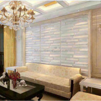 Upholstered wall panels with 3D textured design