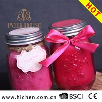 Luxury Scented Mason Jar Candle wholesale 12 oz With Metal Lid