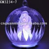 glass christmas desk decoration with LED light