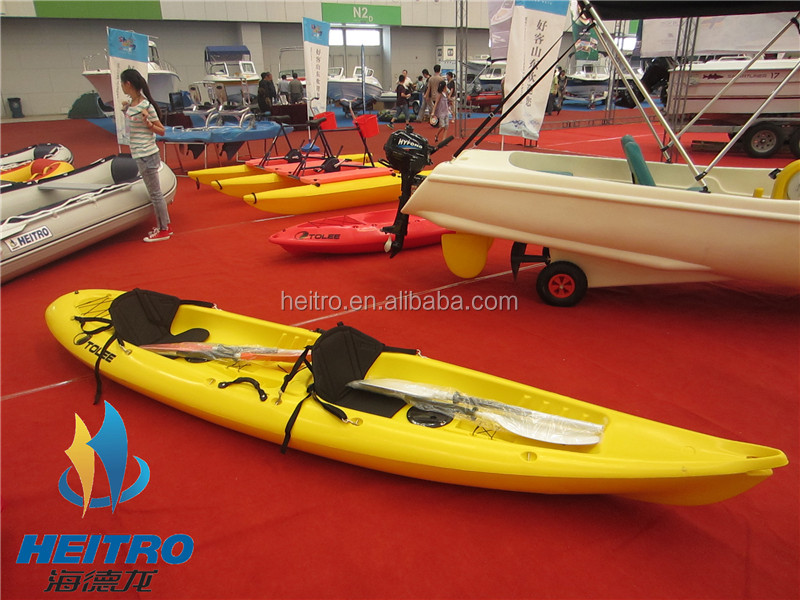 HEITRO New roto molded double seat plastic sea fishing kayak