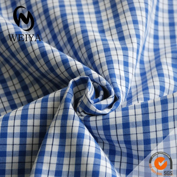 white and blue ripstop fabric for shirts and blouses