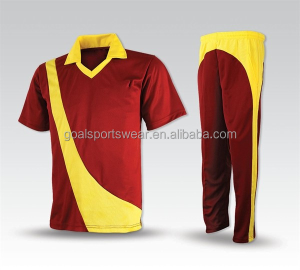 Wholesale sublimation customized team Cricket uniforms