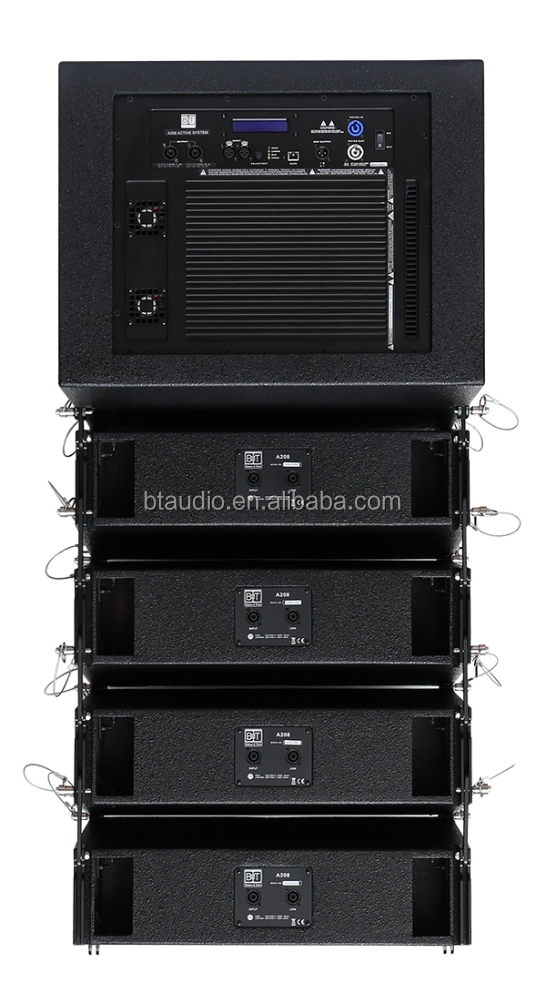 "pa sound system line array 8"" speakers price"