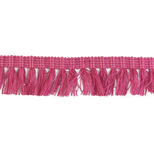 new style 4.2cm width dark pink cotton accessories curtain fringe for decoration