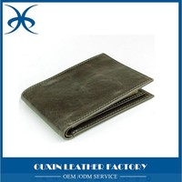 2015 Guangzhou Summer Arrivel Men's Multi-Card Compact Center Flip Bifold trading Wallet purse with cedrtificate window slot