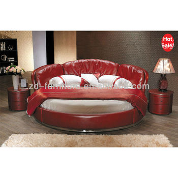 red luxury round king size leather bed 2014 buy round red leather bed king size leather bed. Black Bedroom Furniture Sets. Home Design Ideas