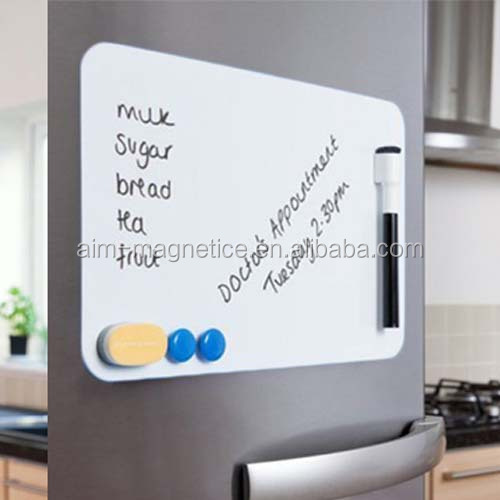 "16""x12"" dry erase magnet whiteboard for Refrigerator with Marker and Eraser"