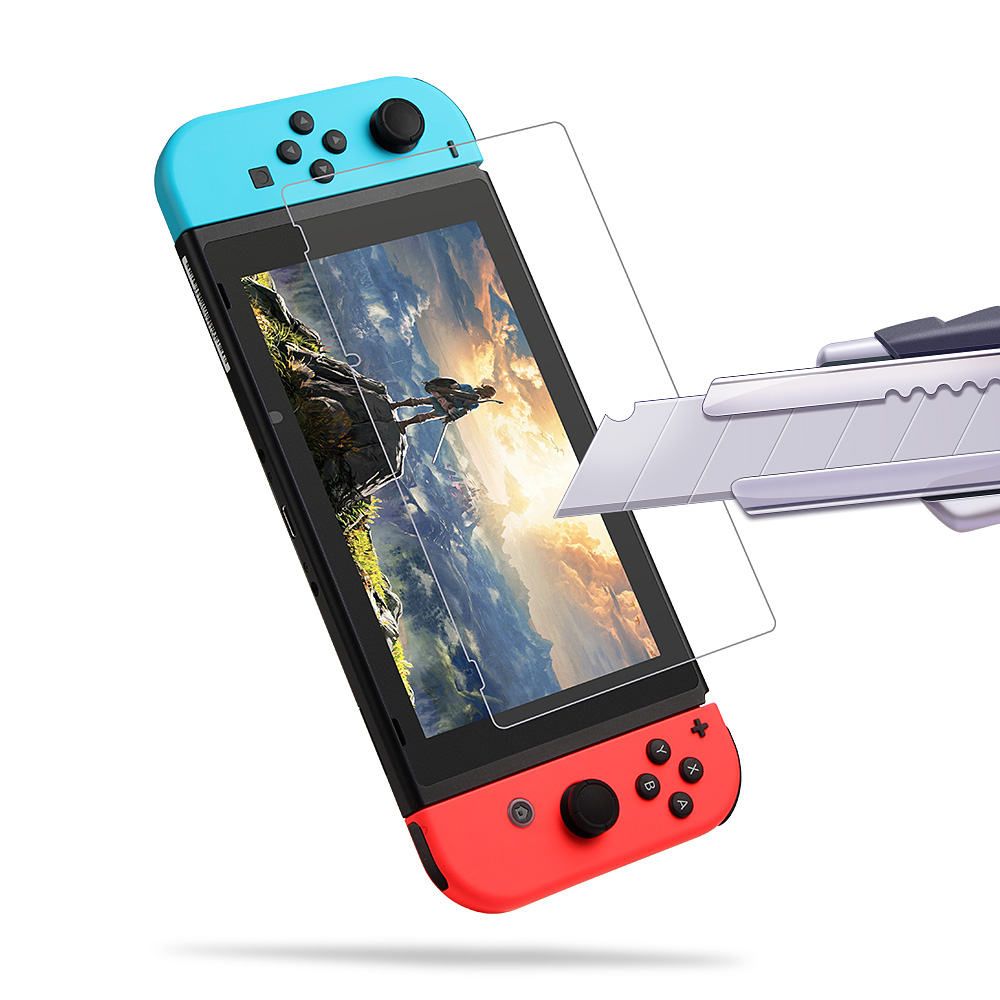 Tempered Glass Protector Transparent Good Tactility Full Screen Protective Film for Nintendo Switch