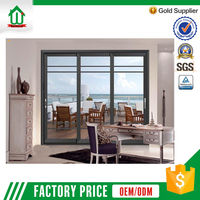 Double glass 3 track used aluminum commercial door