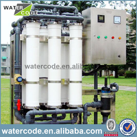 Hollow fiber uf filter membrane package wastewater treatment plant for wastewater of chemical industry