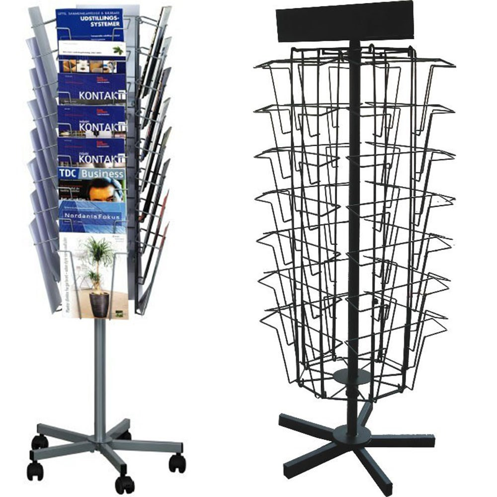 32 pocket A4 paper metal rotatable magazine rack HL013