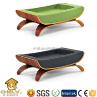 Luxury pet dog beds,cat bed with timber board rack and soft foam pad