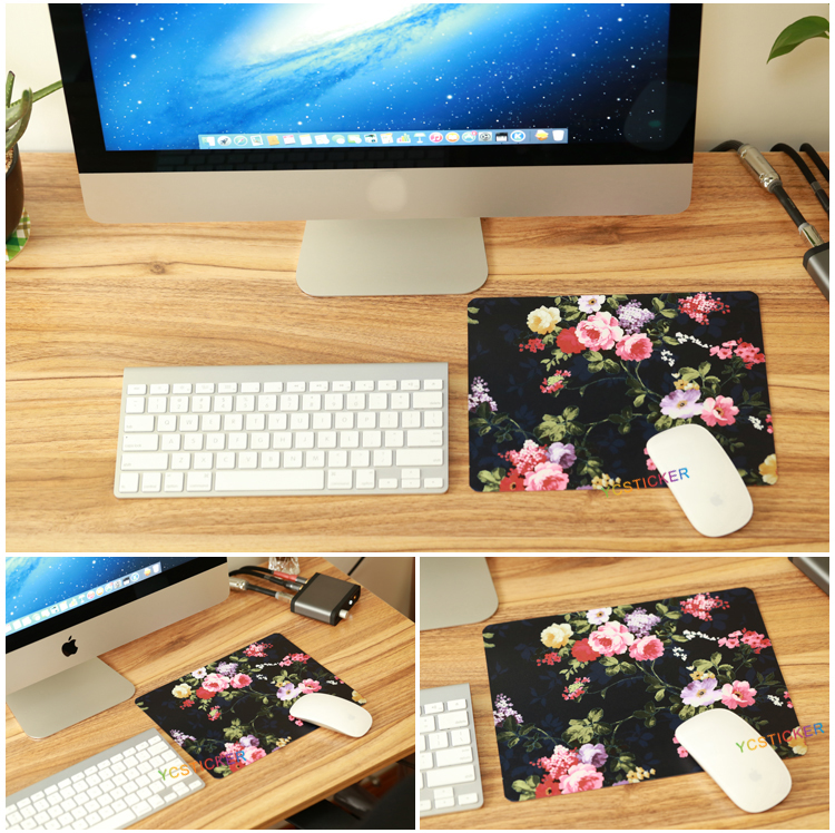 new for 2017 beautiful flower printed wrist mouse pad personalized made in eco-friendly pvc material